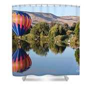 Touchdown On The Yakima River Shower Curtain