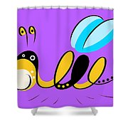 Thoughts And Colors Series Bee Shower Curtain