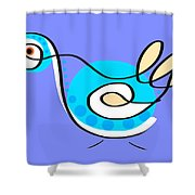 Thoughts And Colors Series Bird Shower Curtain