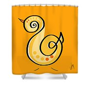 Thoughts And Colors Series Chick Shower Curtain