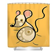 Thoughts And Colors Series Mouse Shower Curtain