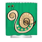 Thoughts And Colors Series Snail Shower Curtain