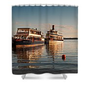 Tour Boats Lake Geneva Wi Shower Curtain