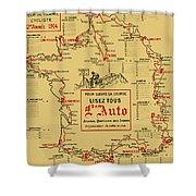 Tour De France 1914 Shower Curtain