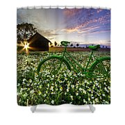 Tour De France Shower Curtain by Debra and Dave Vanderlaan