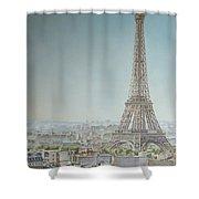 Tour Eiffel 1 Shower Curtain