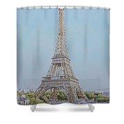 Tour Eiffel 3 Shower Curtain