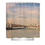 Tour Eiffel And Alexandre IIi Bridge - Paris  Shower Curtain