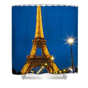 Tour Eiffel De Nuit Shower Curtain