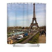 tour Eiffel Shower Curtain