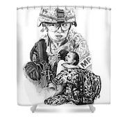 Tour Of Duty - Women In Combat Le Shower Curtain