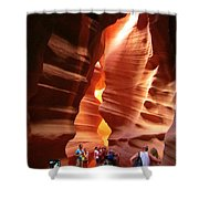 Touring Antelope Canyon Shower Curtain