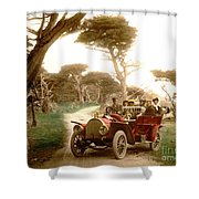 Royal Tourist Touring Car On The 17 Mile Drive Pebble Beach California Circa 1910 Shower Curtain