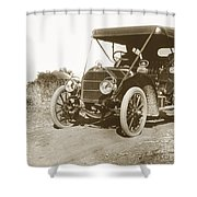 Touring Car On The Road California 1906 Shower Curtain