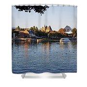 Touring On The World Showcase Lagoon Walt Disney World Shower Curtain