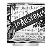 Tourism Australasia, 1889 Shower Curtain