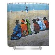 tourists in Jaffa  Shower Curtain