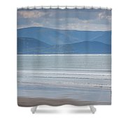 Tourists On The Beach, Inch Strand Shower Curtain