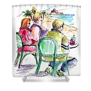 Tourists On The Costa Blanca In Spain Shower Curtain