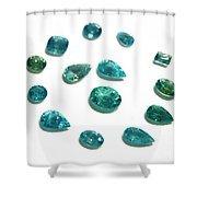 Tourmaline Paraiba Shower Curtain