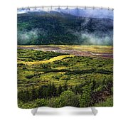 Toutle River Valley Shower Curtain