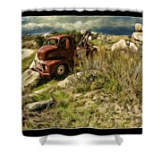 Tow Truck No Where To Go Shower Curtain