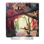 Toward The Light Shower Curtain by Laurie Search