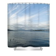 Towards Ben Lomond Shower Curtain
