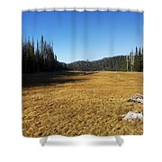 Towards Hand Lake And Mt Jefferson Shower Curtain