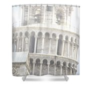 Tower And Fog Shower Curtain