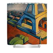 Tower And Toast Shower Curtain