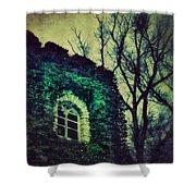 Tower And Trees Shower Curtain
