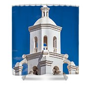 Tower At Mission San Xavier Del Bac Shower Curtain