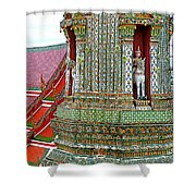 Tower At Temple Of The Dawn-wat Arun In Bangkok-thailand Shower Curtain