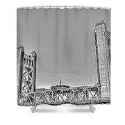 Tower Bridge 3 Sacramento Shower Curtain