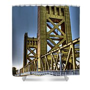 Tower Bridge 4 Sacramento Shower Curtain