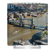 Tower Bridge And London City Hall Aerial View Shower Curtain