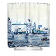 Tower Bridge And The City Of London Shower Curtain