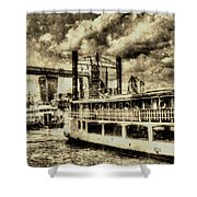 Tower Bridge And The Elizabethan Vintage Shower Curtain