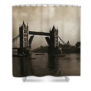 Tower Bridge London 1906 Shower Curtain