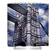 Tower Bridge London Shower Curtain by Mariola Bitner