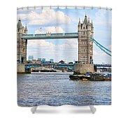 Tower Bridge Panorama Shower Curtain