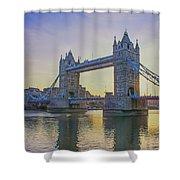 Tower Bridge Sunrise Shower Curtain