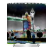 Tower Bridge Surrealism Shower Curtain