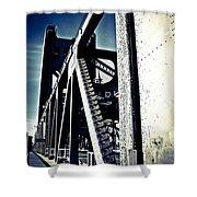 Tower Bridge - Throwback Shower Curtain