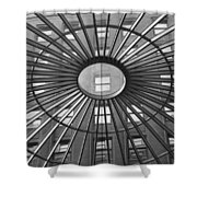 Tower City Center Architecture Shower Curtain