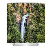 Tower Falls Yellowstone National Park Shower Curtain