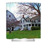 Tower Farm Washburn Maine Shower Curtain