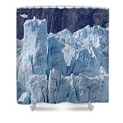 Tower In Margerie Glacier Shower Curtain