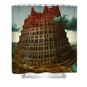 Tower Of Bable Shower Curtain